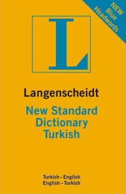 Langenscheidt New Standard Dictionary Turkish