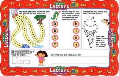 Dora the Explorer Letters Wipe-Off Mat