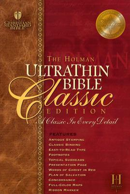Ultrathin Reference Bible-Hcsb-Classic