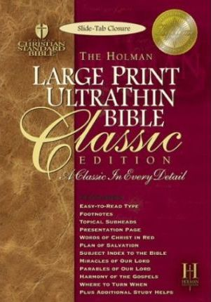 Large Print Ultrathin Reference Bible-Hcsb-Classic Slide Tab