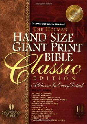 Hand Size Giant Print Reference Bible-Hcsb
