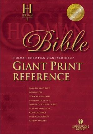 Giant Print Reference Bible-HCSB