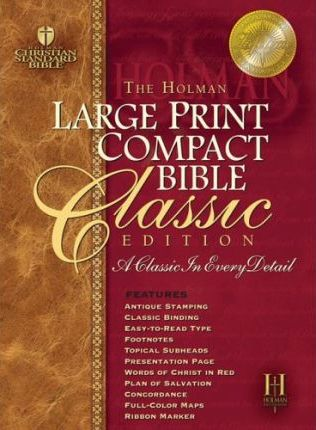 Large Print Compact Bible-HCSB-Classic