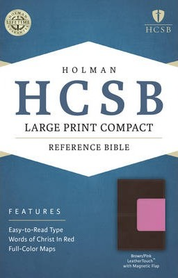 Large Print Compact Reference Bible-HCSB-Magnetic Flap
