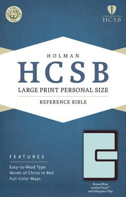 Large Print Personal Size Reference Bible-HCSB-Magnetic Flap