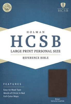 Large Print Personal Size Reference Bible-HCSB