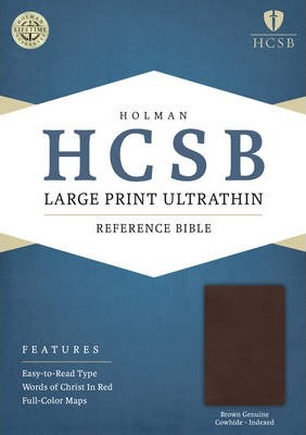 Large Print Ultrathin Reference Bible-HCSB