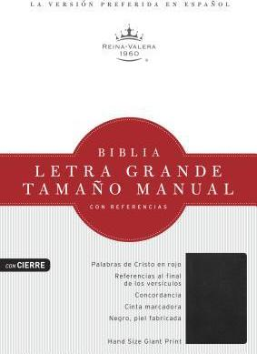 Biblia Letra Grande Tamano Manual Con Referencias-Rvr 1960-Zipper Closure