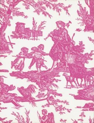 Toile Letterpress Notecards (Pink)