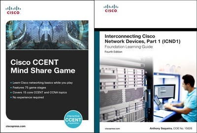 Cisco CCENT Mind Share Game and Interconnecting Cisco Network Devices, Part 1 (ICND1) Bundle