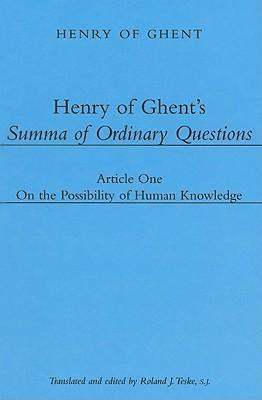 Henry of Ghent's Summa of Ordinary Questions