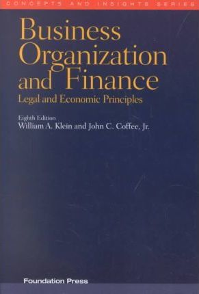 Business Organization and Finance