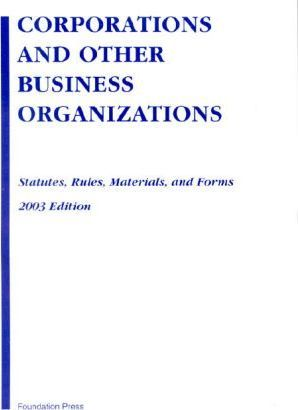 Corp Other Business Organ 2003