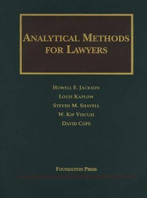 Analytical Methods for Lawyers 2003