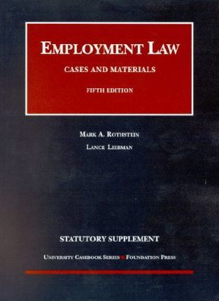 2003 Supp to Employment Law 5