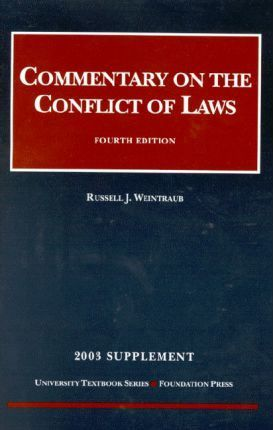 Commentary on the Conflict of Laws 2003