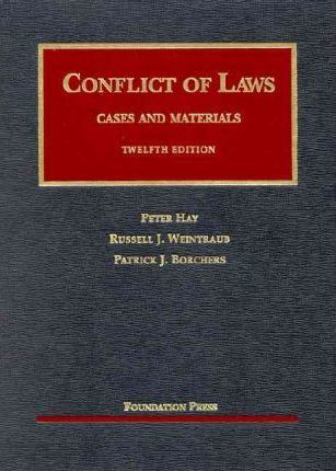 Conflicts of Laws 12th
