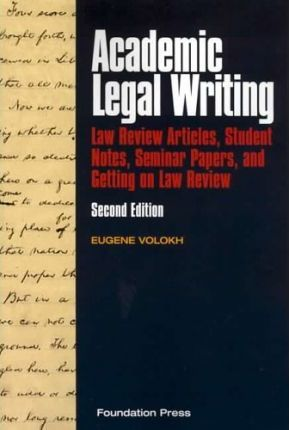 Volokh's Academic Legal Writing