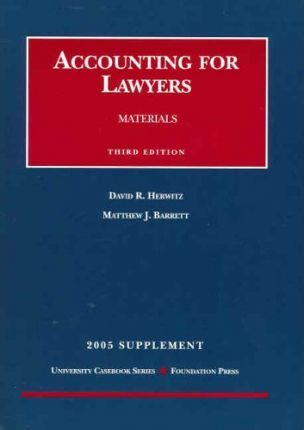 Accounting for Lawyers Materials 2005 Supplement