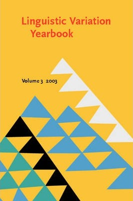 Linguistic Variation Yearbook 2003