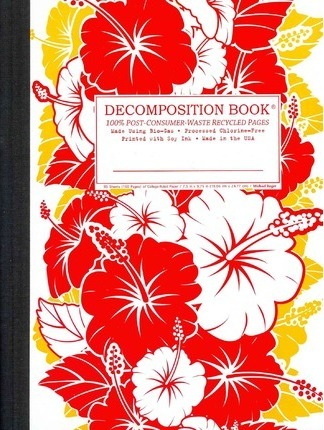 Red Hibiscus Decomposition Book : College-ruled Composition Notebook With 100% Post-consumer-waste Recycled Pages