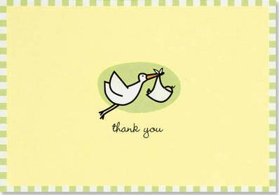 Thank You Notes Baby Stork