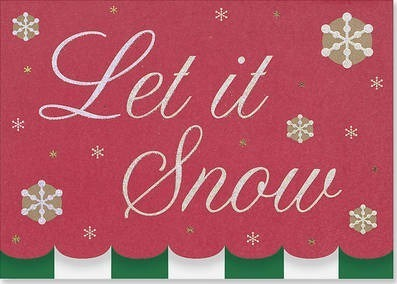Let It Snow Deluxe Holiday Cards