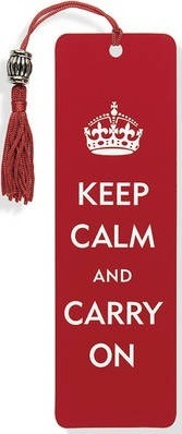 Beaded Bookmark Keep Calm & Carry on