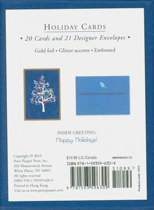 Partridge in a Scroll Tree Small Boxed Holiday Cards