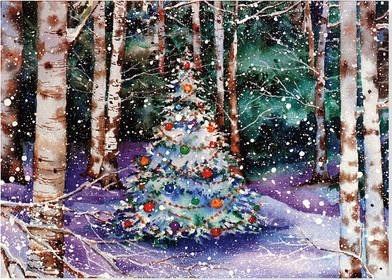 deluxe boxed christmas cards festive forest - Deluxe Christmas Cards