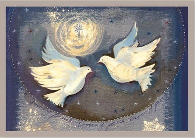 Deluxe Boxed Christmas Cards: Two Doves