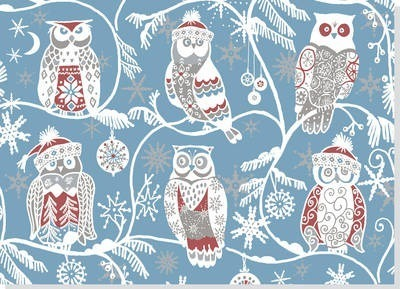 Deluxe Boxed Christmas Cards: Santa Owls