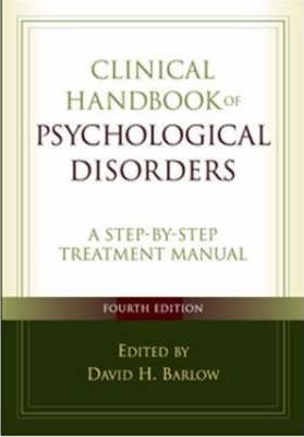 Clinical Handbook Of Psychological Disorders