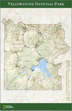 Yellowstone National Park Tubed Wall Maps U S Download Pdf
