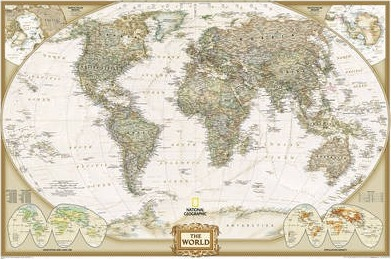 World Executive, Poster Size, Tubed : National Geographic Maps ...