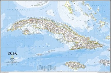 Cuba Classic, Laminated  Wall Maps Countries & Regions