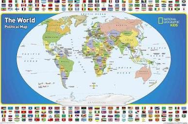 Geographic Map Of World.World For Kids The Poster Sized Laminated National Geographic