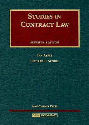 Studies in Contract Law