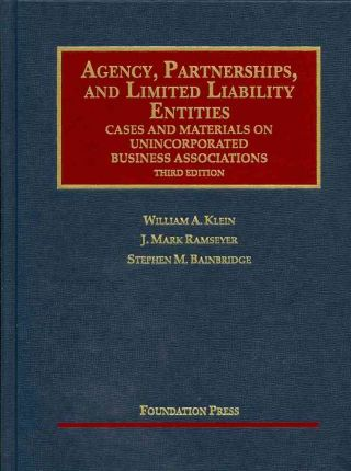 Agency, Partnerships, and Limited Liability Entities