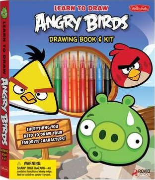 Learn To Draw Angry Birds Drawing Book Kit Walter Foster