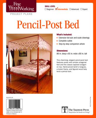 Fine Woodworking S Pencil Post Bed Plan Editors Of Fine