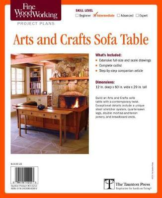 Fine Woodworking S Arts And Crafts Sofa Table Plan Editors Of Fine