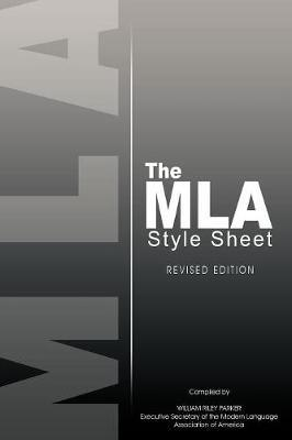 The MLA Style Sheet