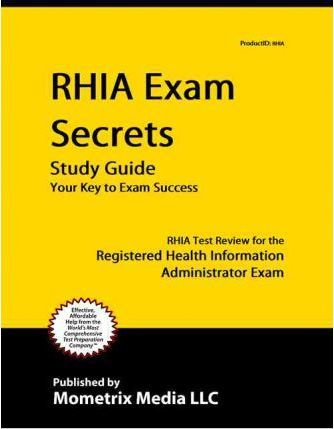 rhia exam secrets study guide rhia exam secrets test prep rh bookdepository com RHIA Certification Schools Health Information Technology