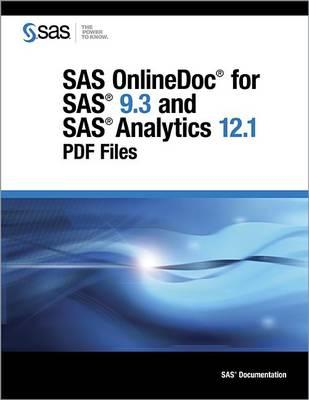 SAS Onlinedoc for SAS 9.3 and SAS Analytics 12.1: PDF Files