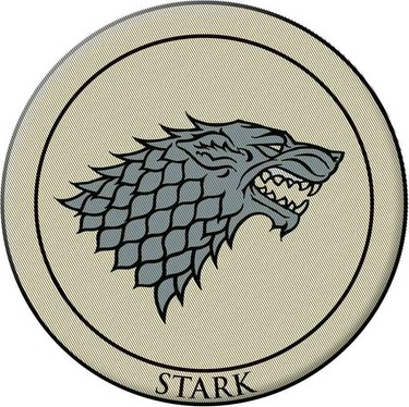 Game of Thrones Stark Embroidered Patch