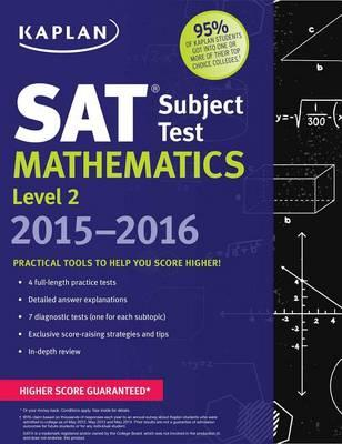 Kaplan SAT Subject Test Mathematics Level 2 2015-2016 Cover Image