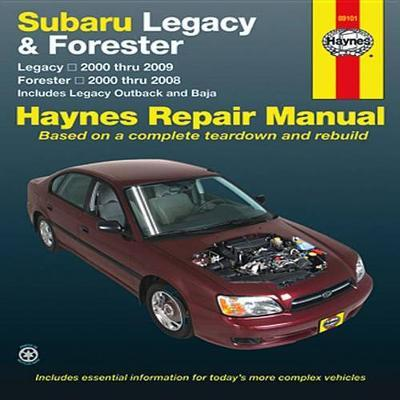 subaru legacy forester 2000 09 haynes publishing 9781620920046 rh bookdepository com 2009 forester service manual pdf 2010 Forester