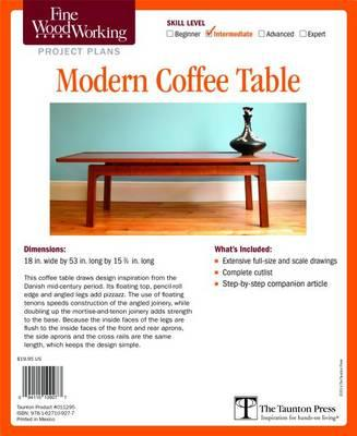 Fine Woodworking S Modern Coffee Table Plan Editors Of Fine