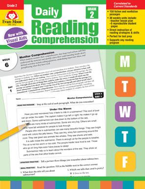 Daily Reading Comprehension, Grade 2 : Evan-Moor Educational